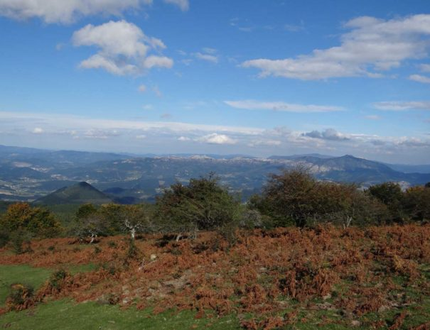 Basque mountains view